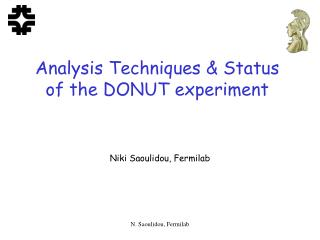 Analysis Techniques & Status of the DONUT experiment