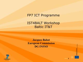FP7 ICT Programme IST4BALT Workshop Baltic IT&T