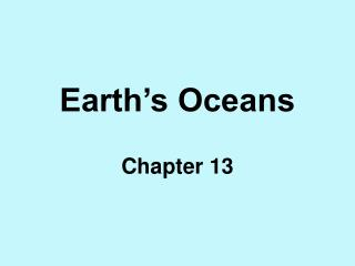 Earth�s Oceans