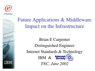 Future Applications & Middleware Impact on the Infrastructure