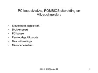 PC koppelvlakke, ROMBIOS uitbreiding en Mikrobeheerders