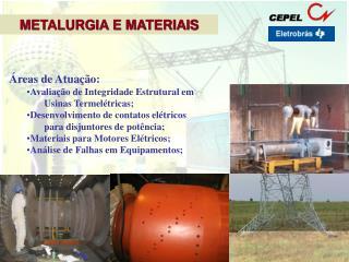 Áreas de Atuação: Avaliação de Integridade Estrutural em  Usinas Termelétricas;