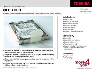80 GB HDD