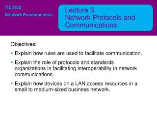 Lecture  3 Network Protocols and Communications