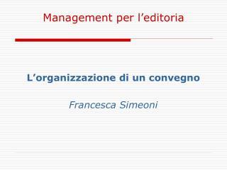 Management per l'editoria
