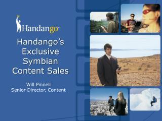 Handango's Exclusive Symbian Content Sales