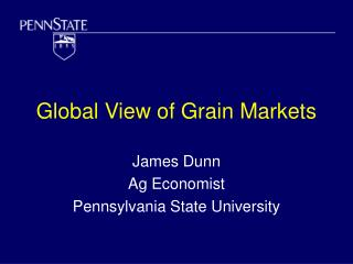 Global View of Grain Markets