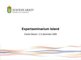 Expertseminarium Island