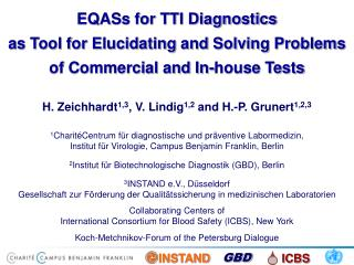 EQASs for TTI Diagnostics as Tool for Elucidating and Solving Problems of Commercial and In-house Tests