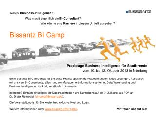 Bissantz BI Camp