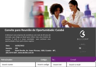 Convite para Reunião de Oportunidade: Cuiabá