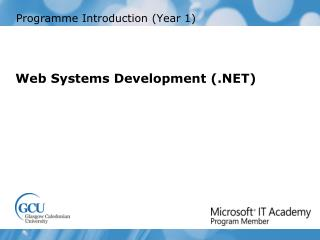 Programme Introduction (Year 1)