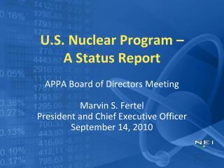U.S. Nuclear Program –  A Status Report