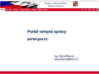 Portál veřejné správy portal.cz