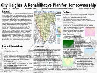 City Heights: A Rehabilitative Plan for Homeownership