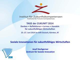 Josef Hochgerner Zentrum für Soziale Innovation