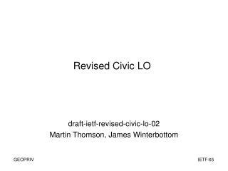 Revised Civic LO