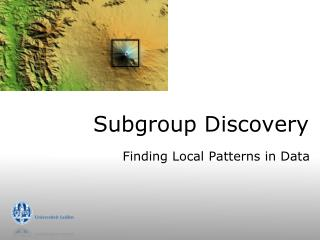Subgroup Discovery