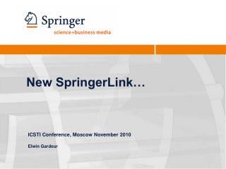 New SpringerLink…