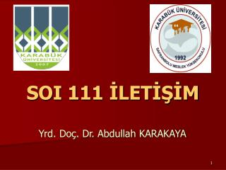 SOI 111 İLETİŞİM
