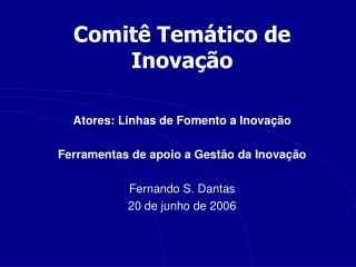 Comitê Temático de Inovação