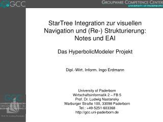 StarTree Integration zur visuellen Navigation und (Re-) Strukturierung: Notes und EAI
