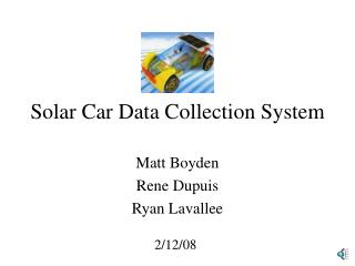 Solar Car Data Collection System