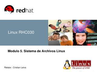 Linux RHC030