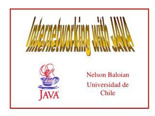 Nelson Baloian Universidad de Chile