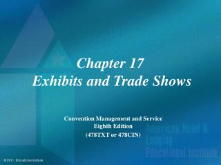 Chapter 17  Exhibits and Trade Shows