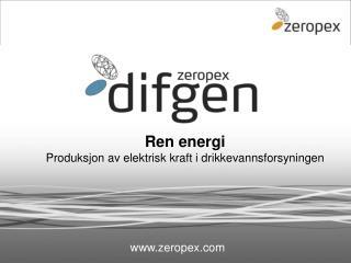 Ren energi Produksjon av elektrisk kraft i drikkevannsforsyningen