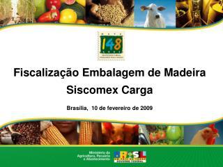 Fiscalização Embalagem de Madeira Siscomex Carga Brasília,  10 de fevereiro de 2009