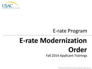 E-rate Modernization Order