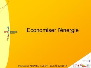 Economiser l'énergie