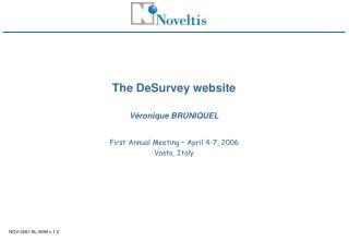 The DeSurvey website  Véronique BRUNIQUEL