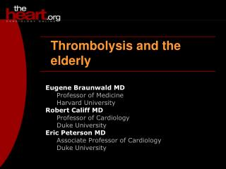 Thrombolysis and the elderly