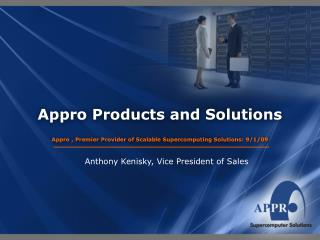 Appro Products and Solutions