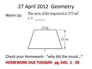 27 April 2012  Geometry