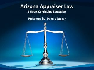 Arizona Appraiser Law