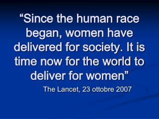 The Lancet, 23 ottobre 2007
