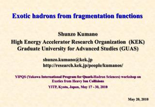 Exotic hadrons from fragmentation functions