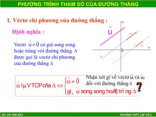 1. V�ct? ch? ph??ng c?a ???ng th?ng :