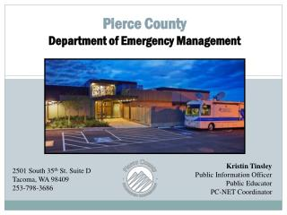 Pierce County  Department of Emergency Management