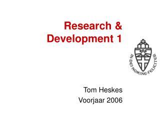 Research & Development 1