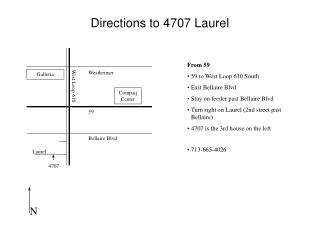 Directions to 4707 Laurel