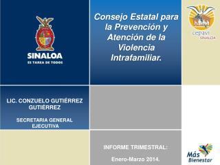 Consejo Estatal para la Prevención y Atención de la Violencia Intrafamiliar.