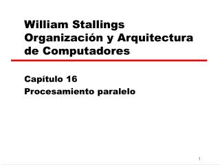 William Stallings  Organizaci�n y Arquitectura de Computadores