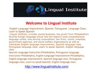 English language improvement, Spanish language class, Portug
