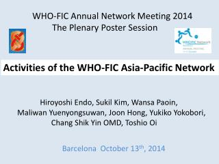 Activities of the WHO-FIC Asia-Pacific Network