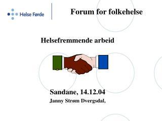 Forum for folkehelse